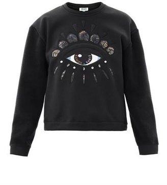 Kenzo Lotus-eye embroidered sweatshirt