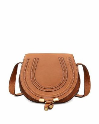 Chloe Marcie Small Leather Crossbody Bag, Tan $890 thestylecure.com