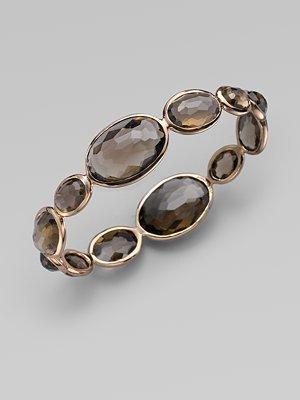 Ippolita Smoky Quartz, 18K Gold & Sterling Silver Bracelet