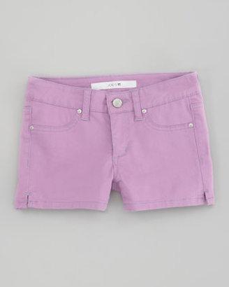 Joe's Jeans Neon Stretch Denim Shorts, Neon Purple