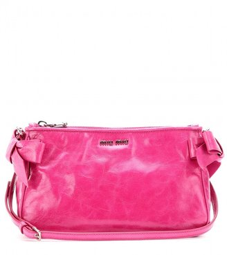 Miu Miu Glazed-leather shoulder bag