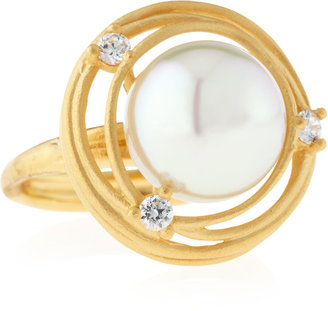 Majorica Pearl Concentric Ring, Size 7