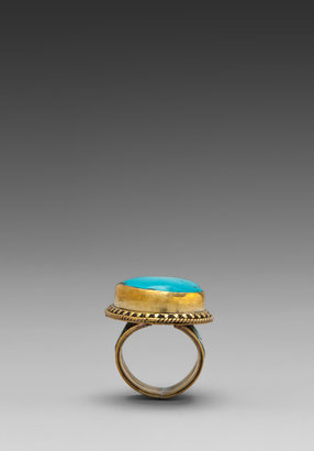Vanessa Mooney Misty Ring in Silver/Turquoise