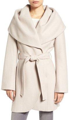 Women's T Tahari Wool Blend Belted Wrap Coat $348 thestylecure.com
