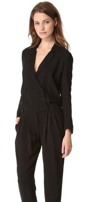 Band Of Outsiders Collar & Button Jumpsuit