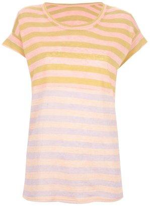 Tsumori Chisato striped two-tone tee