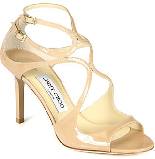 Jimmy Choo Ivette Strappy Patent Leather Sandals