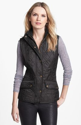 Women's Barbour 'Cavalry' Quilted Vest $179 thestylecure.com