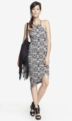 Express Snakeskin Print Cut-In Cami Dress