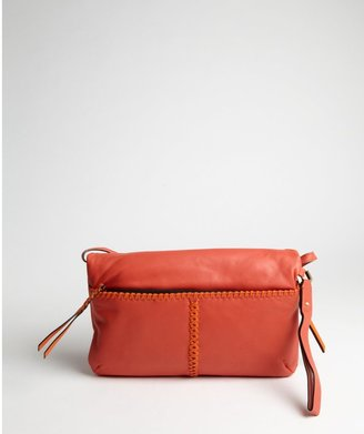 Oryany red and orange leather woven detail 'Alexa' shoulder bag