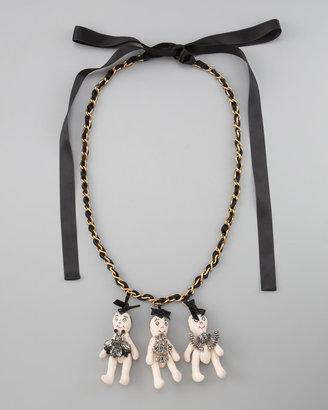 Marni Three-Doll Necklace