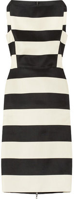 Lanvin Striped cotton-blend sheath dress