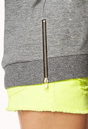 Forever 21 Zippered Slouchy Sweatshirt
