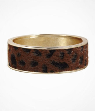 Express Leopard Inset Hinge Bracelet