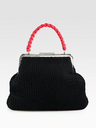 Marni Knit Wool & Cashmere Top-Handle Bag