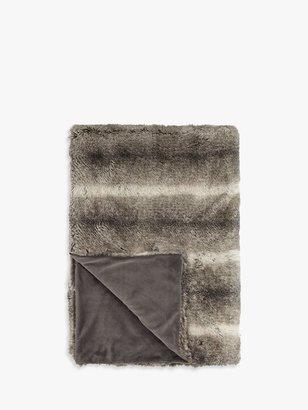 John Lewis & Partners Faux Fur Throw