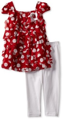 Rare Editions Girls 2-6X Dot Legging Set