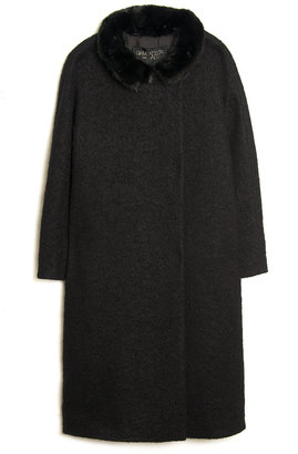 Giambattista Valli Mink-collar Coat