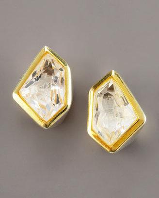 Kara Ross Tiny Rock Crystal Stud Earrings