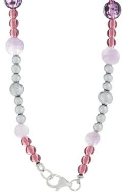 Lord & Taylor Beaded and Stone Accented Necklace