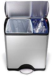 Simplehuman 46-Liter Rectangular Step Garbage & Recycling Can