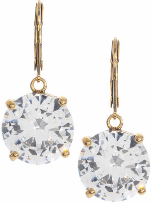 Betsey Johnson Circle Crystal Drop Earrings