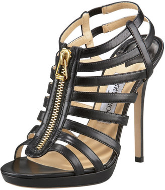 Jimmy Choo Glenis Leather Gladiator Sandal, Back