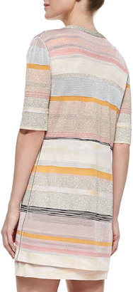 Missoni Shimmery Striped Long Cardigan