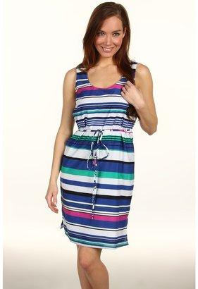 Paperwhite Cotton/Silk Bright Stripe S/S Dress (Multi) - Apparel