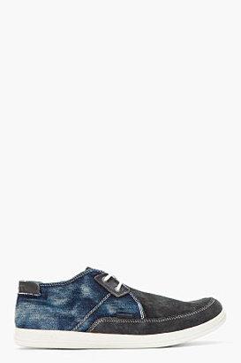 Diesel Dark Navy Suede & Denim Joyful Shoes
