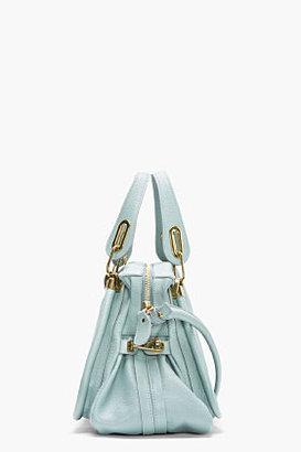 Chloé Mint Leather Medium Paraty Shoulder Bag