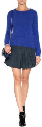J.W.Anderson Angora Blend Raglan Sleeve Pullover in Navy