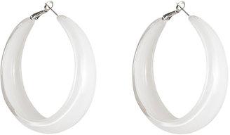 RJ Graziano White Lucite Hoop Earrings