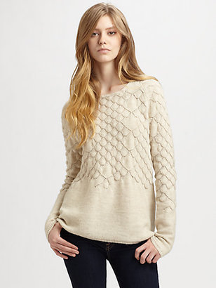 Maison Martin Margiela Scalloped Wool-Blend Sweater