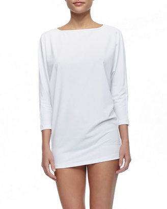 Cover UPF 50 Dolman-Sleeve Boat-Neck Tunic $165 thestylecure.com