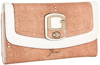 GUESS Azadeh Slim Clutch (Chalk Multi) - Bags and Luggage