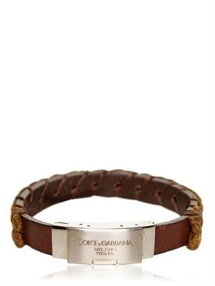 Dolce & Gabbana Woven Leather Rope Bracelet