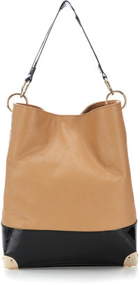 Wallis Camel Metal Corner Bucket Bag