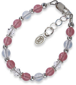 Bed Bath & Beyond Cherished Moments Sterling Silver Pink Bracelet - Small