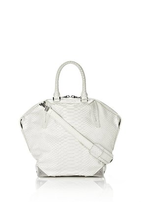 Alexander Wang Small Emile In Embossed Glacier With Rhodium