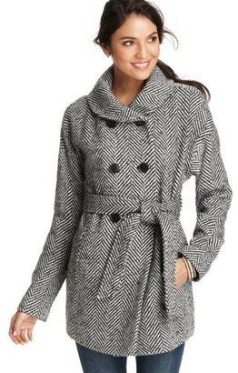 LOFT Graphic Herringbone Coat