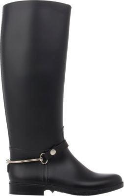 Barneys New York Women's Knee-High Rain Boots-BLACK $195 thestylecure.com