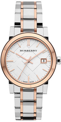 Burberry Women's Medium Check Stamped Bracelet Watch, 34Mm