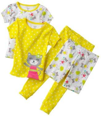 Carter's kitty polka-dot pajama set - baby