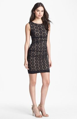 Nicole Miller Daisy Lace Cocktail Dress