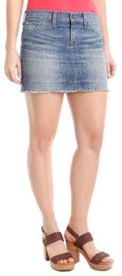 Lucky Brand Tonal Print Denim Miniskirt