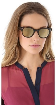 Oliver Peoples Afton Mirrored Sunglasses