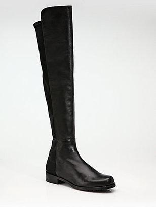 Stuart Weitzman 5050 Nappa Leather Flat Over-The-Knee Boots