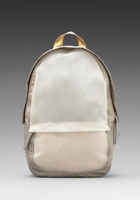 Haerfest Shell Backpack in Stone/ Gold/ White