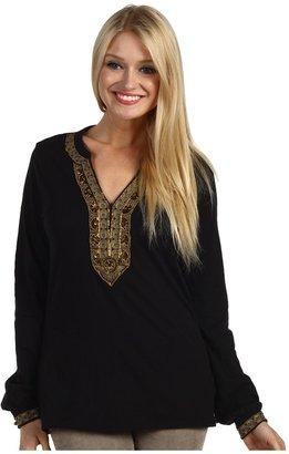 Lucky Brand Jasmine Tunic (Black) - Apparel